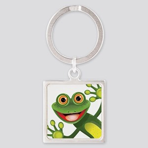 Happy Green Frog Keychains